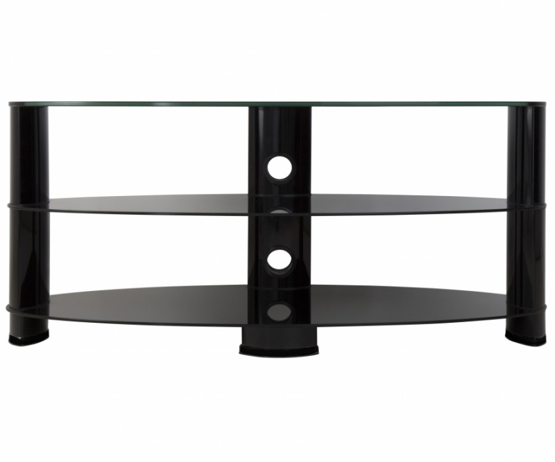 Most Recently Released Oval Glass Tv Stands In Ovl1200Bb: Reflections – Oval Glass Tv Stand – Tv Stands (View 6 of 20)