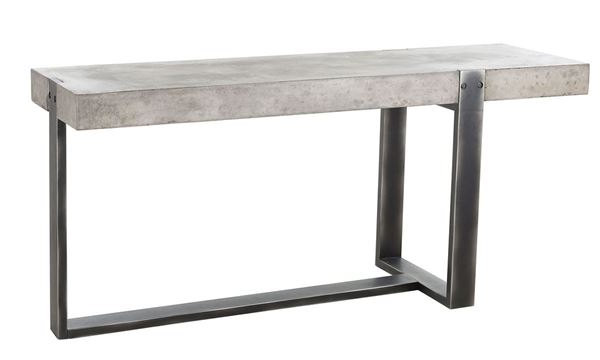 Most Recently Released Parsons Black Marble Top & Dark Steel Base 48X16 Console Tables Regarding Concrete Top Console Table Monumental Parsons Dark Steel Base 48X (View 12 of 20)