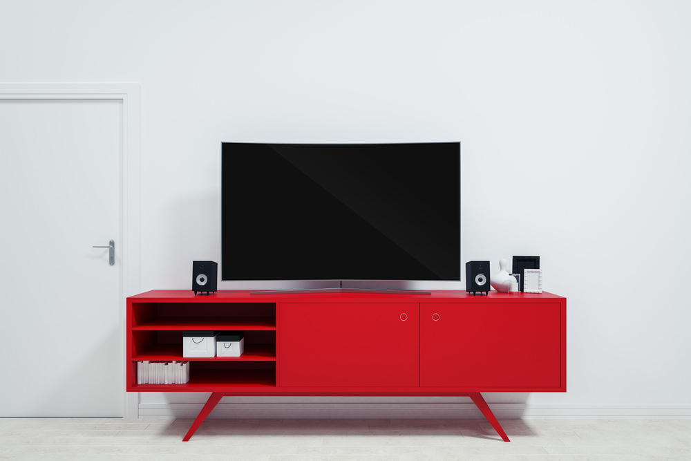 Most Recently Released Red Tv Stands Inside 14 Best Small Tv Stands For  (View 10 of 20)