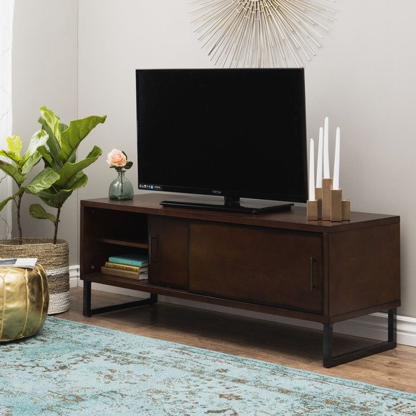 Most Recently Released Rowan 74 Inch Tv Stands Within Shop Carbon Loft 54 Inch Breckenridge Walnut Entertainment Center (View 12 of 20)