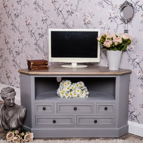 Most Recently Released Shabby Chic Corner Tv Unit Throughout Tv Cabinets Stand Shabby Chic Tv Cabinet Bathroom Wall Cabinets (Gallery 14 of 20)