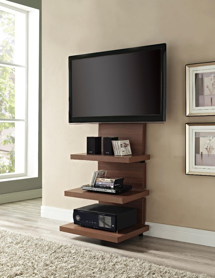 Most Recently Released Tall Narrow Tv Stands Inside 18 Chic And Modern Tv Wall Mount Ideas For Living Room (View 8 of 20)