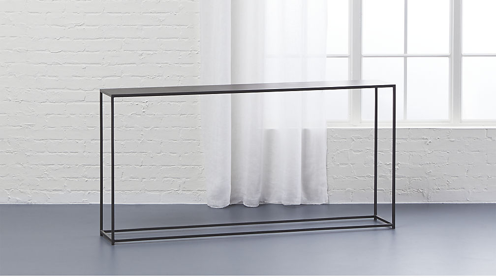 Most Recently Released Thin Console Table Stupefy Echelon Narrow Reviews Crate And Barrel With Echelon Console Tables (View 14 of 20)
