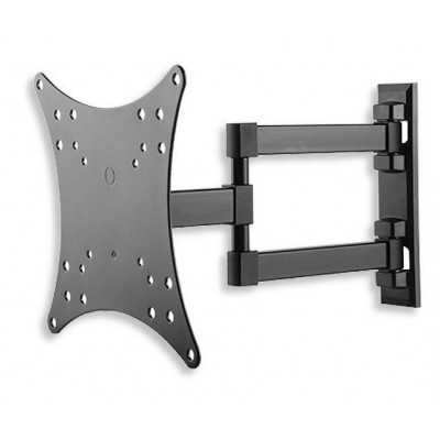 """Most Recently Released Tilted Wall Mount For Tv Pertaining To Wall Mount For Tv Lcd Led 23 42"""" 3 Joints Tilt Black – Extendable Tv (Gallery 17 of 20)"""