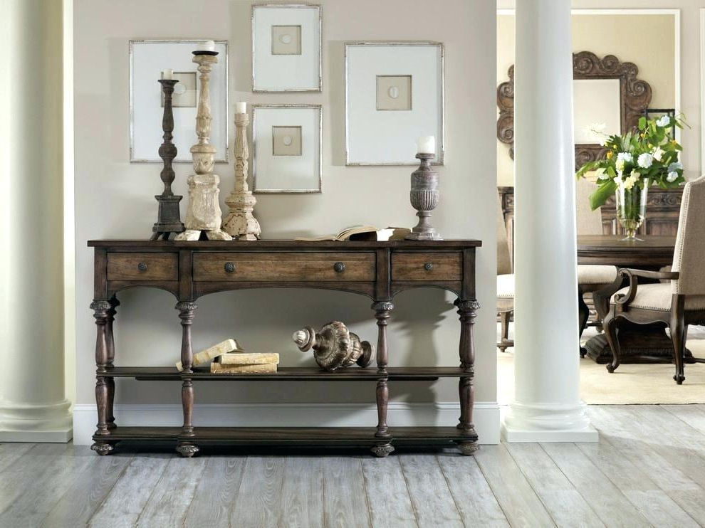 Most Recently Released Tv Console Table Design Ideas Stand Living Room Decorating With Natural Wood Mirrored Media Console Tables (View 9 of 20)