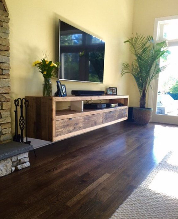 Most Recently Released Under Tv Cabinets In Floating Notched Leg Media Console / Tv Stand (View 10 of 20)