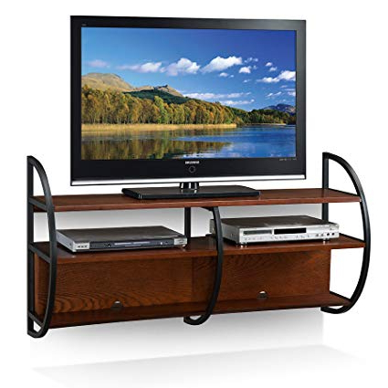 Most Recently Released Wall Mounted Tv Racks Regarding Amazon: Leick Home Floating Wall Mounted Tv Stand, Medium Oak (View 7 of 20)