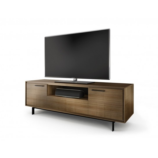 Most Recently Released Walnut Tv Cabinets With Doors Inside Natural Walnut Tv Cabinet – Signal 8329 Nw – Big Av (Gallery 18 of 20)