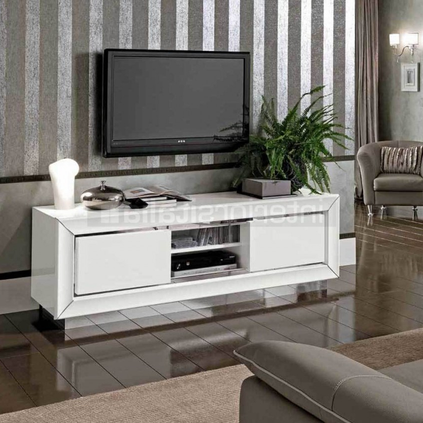 Most Recently Released White High Gloss Tv Unit With Regard To Modern White High Gloss Tv Unit (View 14 of 20)