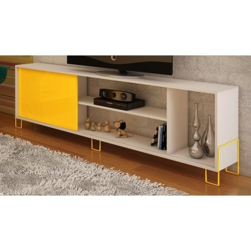 Most Recently Released Yellow Tv Stands Within Manhattan Comfort Nacka (View 9 of 20)