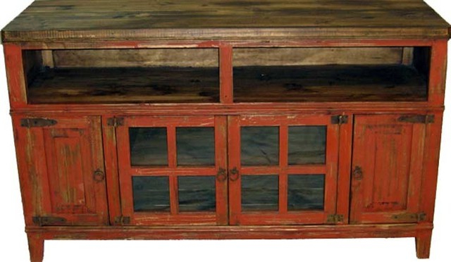 "Most Up To Date 60"" Rustic Tv Stand Console With Glass Doors – Farmhouse Within Rustic Tv Stands (Gallery 3 of 20)"