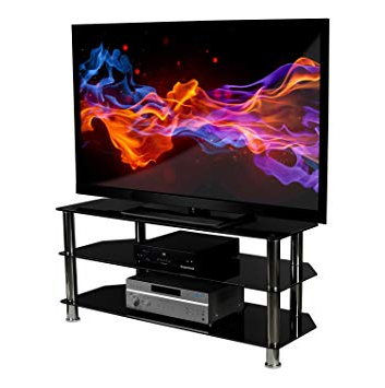 Most Up To Date Amazon: Mount It! Glass Tv Stand For Flat Screen Televisions Inside Valencia 60 Inch Tv Stands (Gallery 7 of 20)