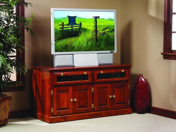 Most Up To Date Amish Traditional Square Tv Stand With Raised Panel Doors Pertaining To Square Tv Stands (View 11 of 20)