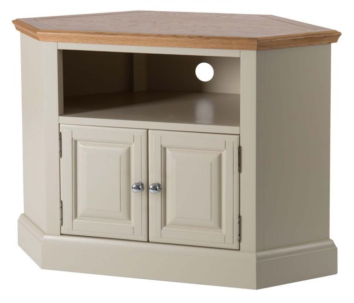 Most Up To Date Annecy Painted Oak Corner Tv Unit Pertaining To Painted Corner Tv Cabinets (View 11 of 20)