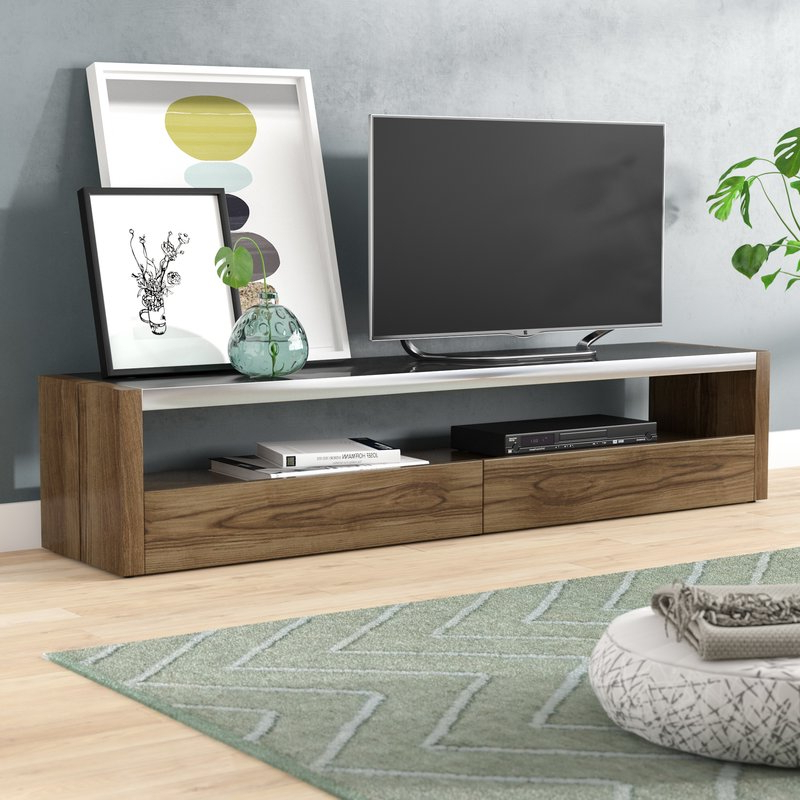 "Most Up To Date Brayden Studio Ahl Tv Stand For Tvs Up To 78"" & Reviews (View 13 of 20)"