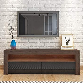 Most Up To Date Britoniture Tv Unit Cabinet Front White High Gloss Tv: Amazon.co (View 11 of 20)