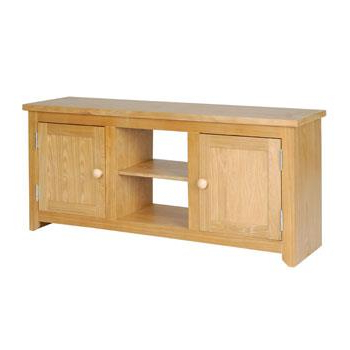 Most Up To Date Buy Today Hamilton Oak Flat Screen Tv Unit With Shelf Lowest Pices Pertaining To Oak Tv Cabinets For Flat Screens With Doors (View 19 of 20)