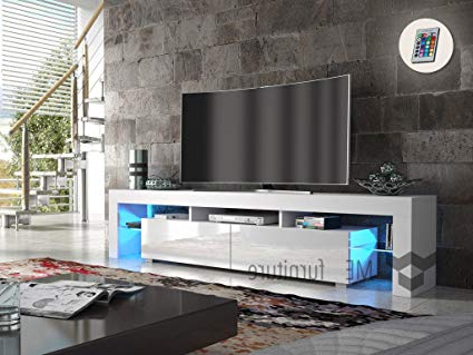 Most Up To Date Contemporary Tv Cabinets For Flat Screens Pertaining To Amazon: Tv Stand New York 200 / Contemporary Tv Cabinet With (View 10 of 20)