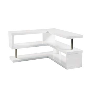 Most Up To Date Contour Gloss Corner Tv Unit White: Amazon.co (View 11 of 20)
