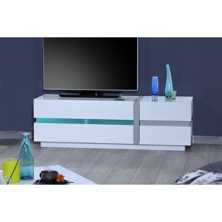 Most Up To Date Cross – White Tv Stand With Led Lights – Tv Stands (1214) – Sena Throughout Tv Stands With Led Lights (View 10 of 20)
