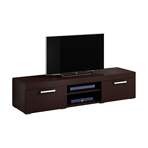 Most Up To Date Dark Wood Tv Stand: Amazon.co (View 16 of 20)
