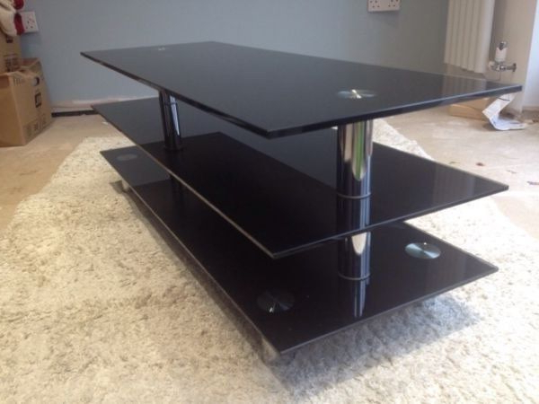 Most Up To Date Dwell Tv Stands Pertaining To A Beautiful Glass Tv Stand From Dwell, Cost £150, Still In Great (View 17 of 20)