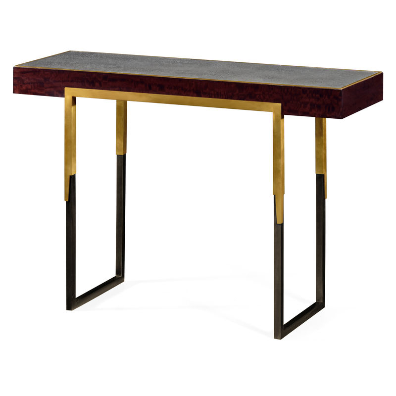 Most Up To Date Faux Shagreen Console Tables Intended For 495592 Lbe Jc Modern Langkawi Rectangular Console Table With (View 14 of 20)