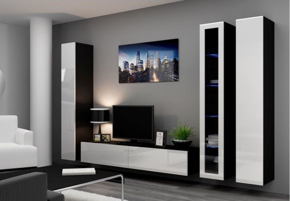 Most Up To Date Forma 65 Inch Tv Stands Within High Gloss Tv Cabinet / Tv Wall Unit / Tv Stand 'viva 2A' In 2019 (Gallery 17 of 20)