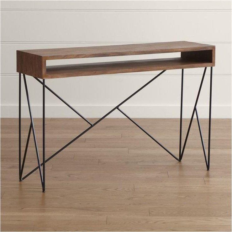Most Up To Date Frame Console Tables Regarding Brown Dixon Console Table (View 15 of 20)