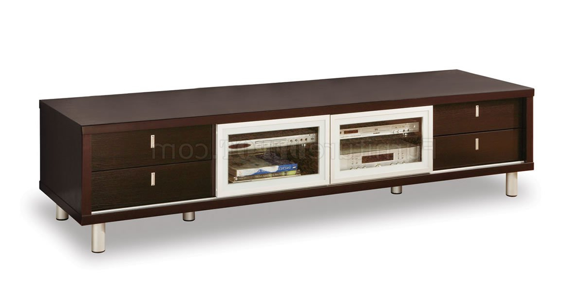 Most Up To Date M722Tv Wenge Tv Stand With Sliding Doors In Wenge Tv Cabinets (View 4 of 20)