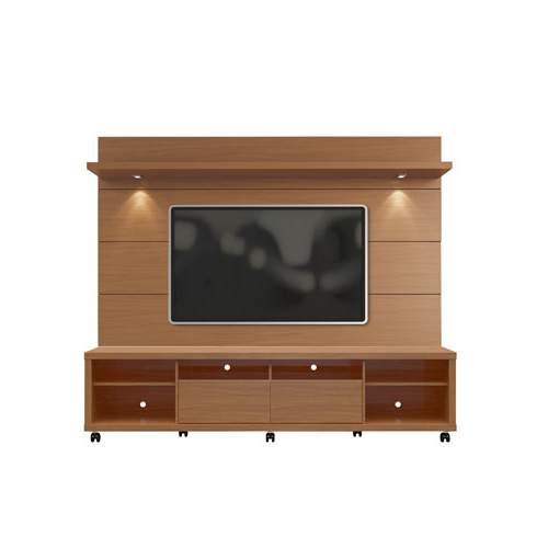 Most Up To Date Maple Tv Stands For Flat Screens Within Manhattan Comfort Cabrini Tv Stand And Floating Wall Tv Panel With (View 6 of 20)