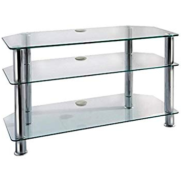 Most Up To Date New Stunning Blaupunkt Glass Tv Stand 90Cm An Ideal: Amazon.co (View 12 of 20)