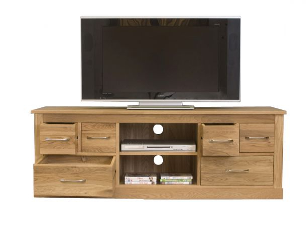 Most Up To Date Oak Widescreen Tv Units Intended For Mobel Oak Widescreen Television Cabinet (Gallery 18 of 20)