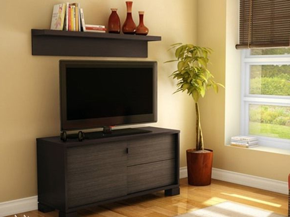 Most Up To Date Over Tv Shelves Intended For Agora Tv Stand With Wall Shelf (View 5 of 20)
