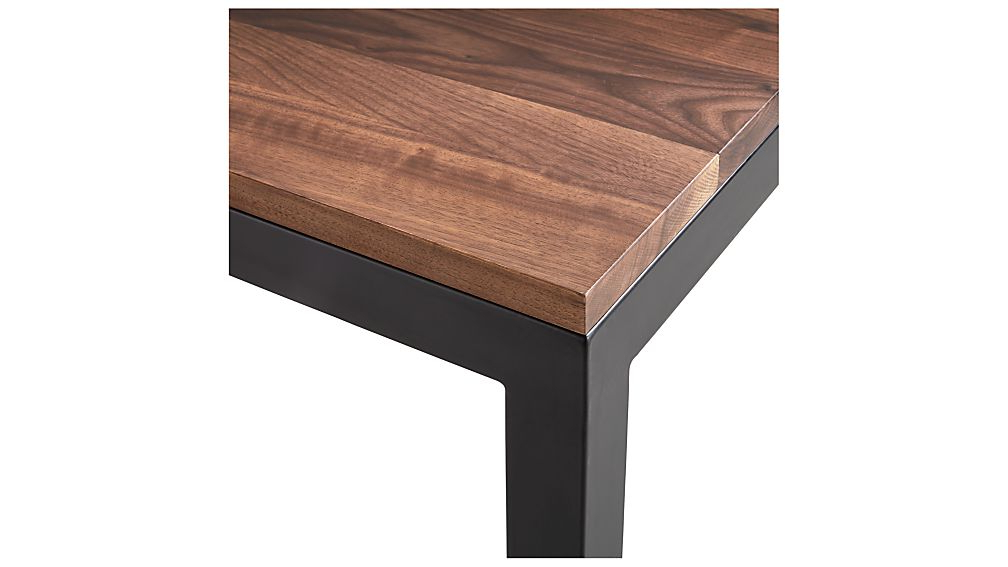 Most Up To Date Parsons Walnut Top & Elm Base 48X16 Console Tables With Parsons Walnut Top/ Dark Steel Base 20X24 End Table + Reviews (View 9 of 20)