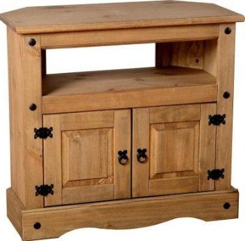 Most Up To Date Pine Tv Cabinets Inside Tv Cabinet Corner Unit Solid Mexican Pine 2 Door Dvd Storage Corona (View 8 of 20)