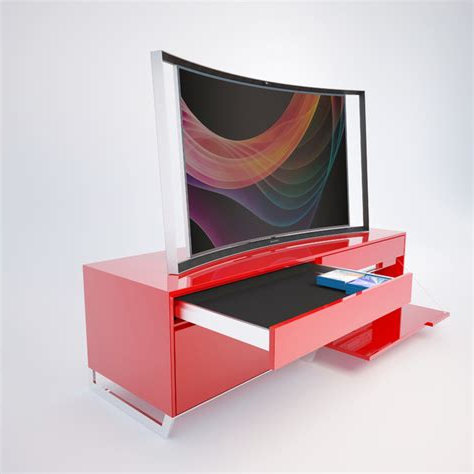 Most Up To Date Red Tv Stands Inside Red Modern Tv Stand – Web Modern (View 13 of 20)