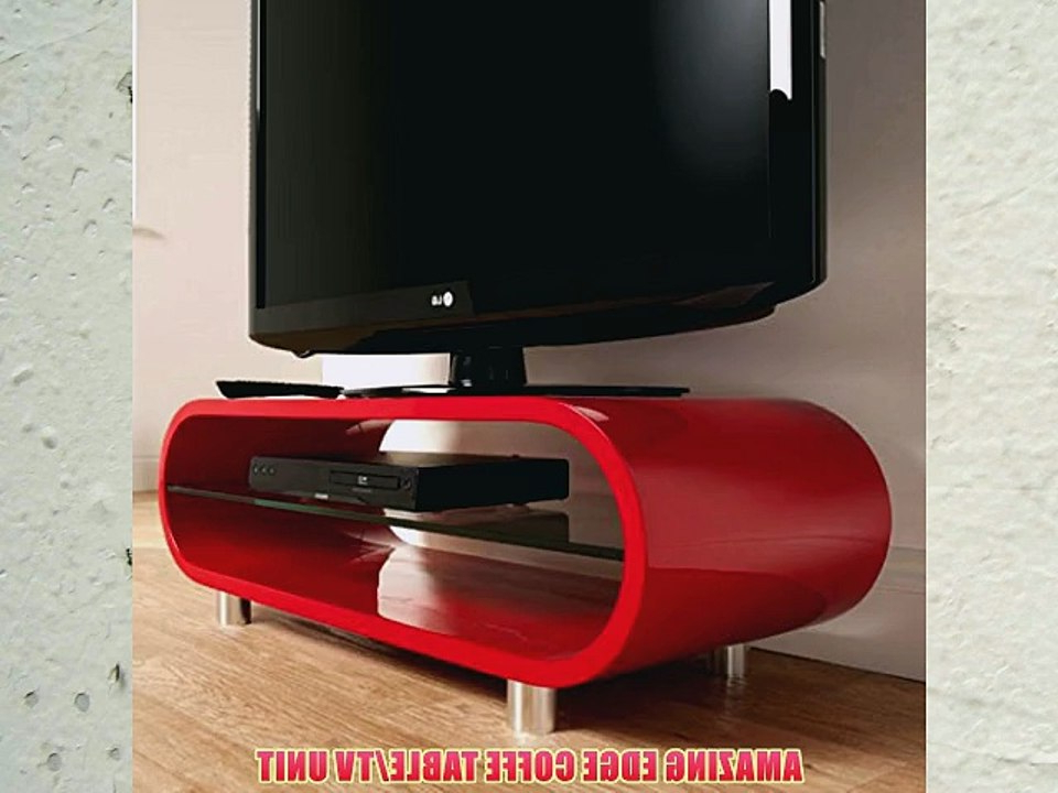 Most Up To Date Red Tv Units Pertaining To Best Seller Edge Curve Gloss Red Tv Unit/coffee Table#free Delivery (View 16 of 20)