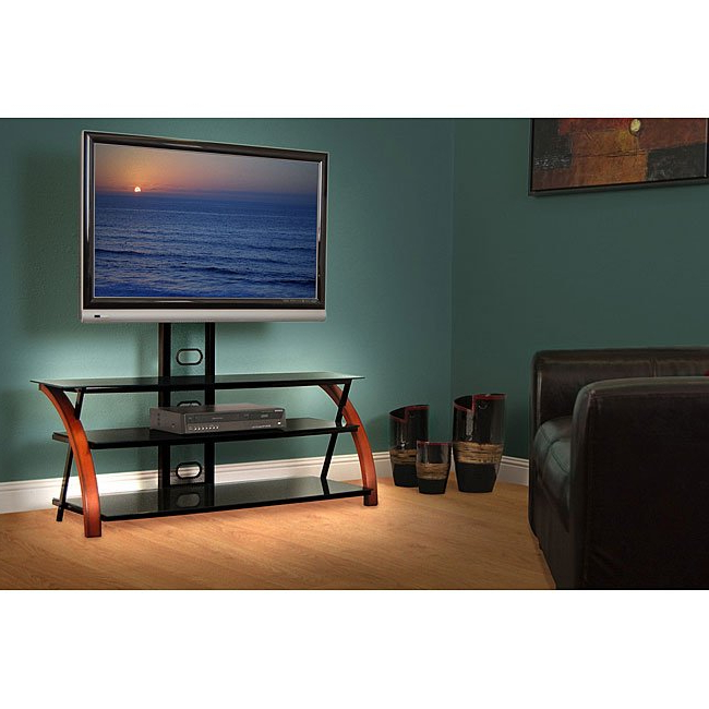 Most Up To Date Shop Avista Titan Brown 55 In Wide Tv Stand With Multi Purpose Intended For Maddy 50 Inch Tv Stands (View 9 of 20)