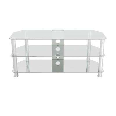 Most Up To Date Silver Tv Stands For Silver – Tv Stands – Living Room Furniture – The Home Depot (View 11 of 20)