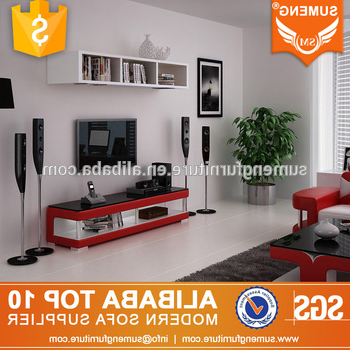 Most Up To Date Simple Stylish Red Color Tv Stand Modern Glass Television Stand With Regard To Red Modern Tv Stands (Gallery 11 of 20)
