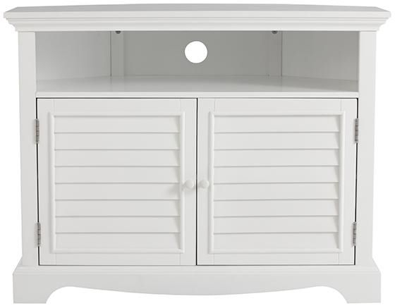 Most Up To Date Small White Tv Cabinets Inside Charlotte Corner Tv Stand – Corner Tv Stand – Corner Tv Stands (View 11 of 20)