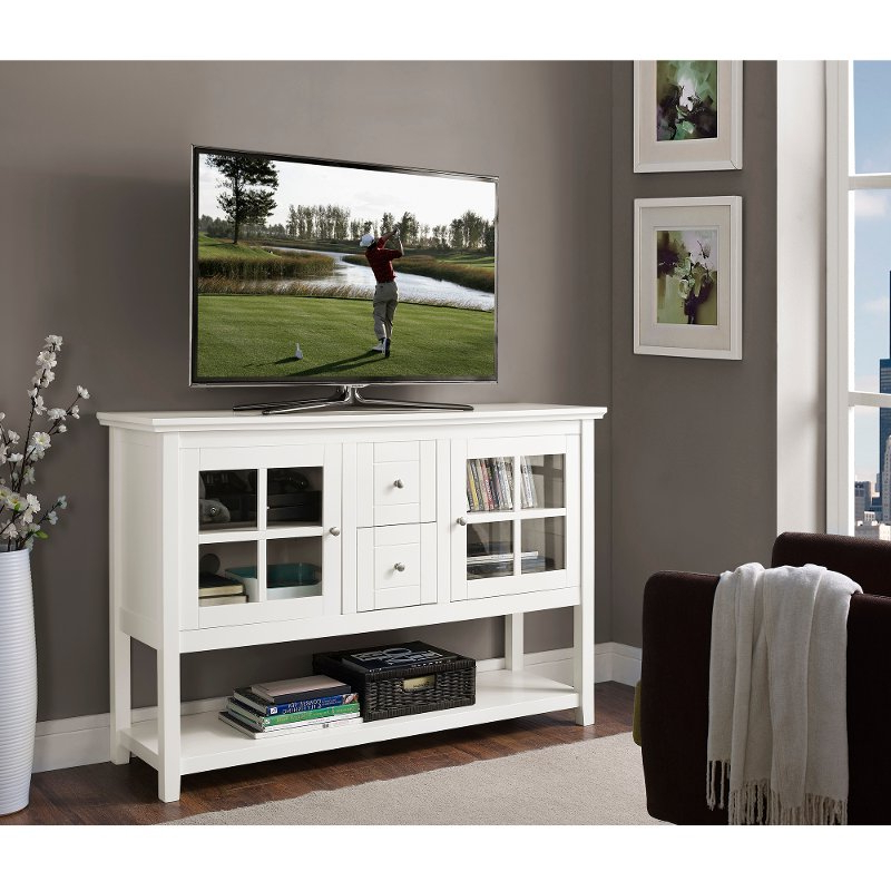 Most Up To Date Techlink Ovid Ov95w Gloss White Tv Stand 406011 White Wash Table Within Ovid White Tv Stand (View 20 of 20)