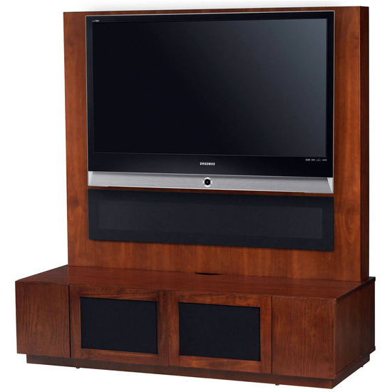 Most Up To Date Tv Stands – Altra Furniture American Cherry Plasma Stand With With Regard To Tv Stands With Back Panel (View 4 of 20)