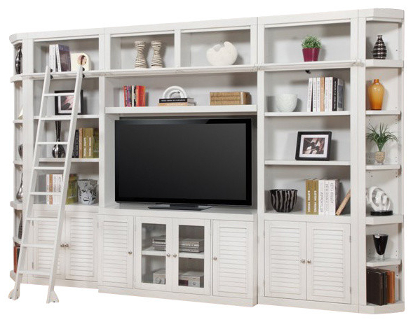Most Up To Date Tv Stands With Bookcases Regarding Parker House, Boca Library Wall Entertainment Center Bookcase (View 12 of 20)