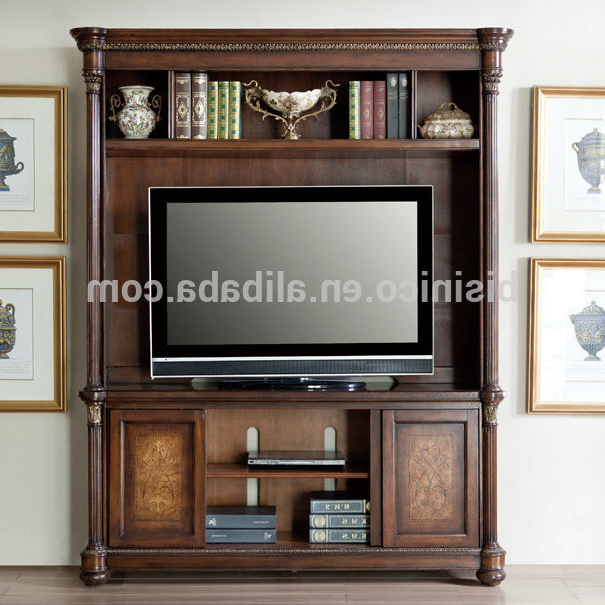 Most Up To Date Vintage Design Wooden Tv Cabinet,america Style Replica Living Room Intended For Classic Tv Cabinets (View 15 of 20)