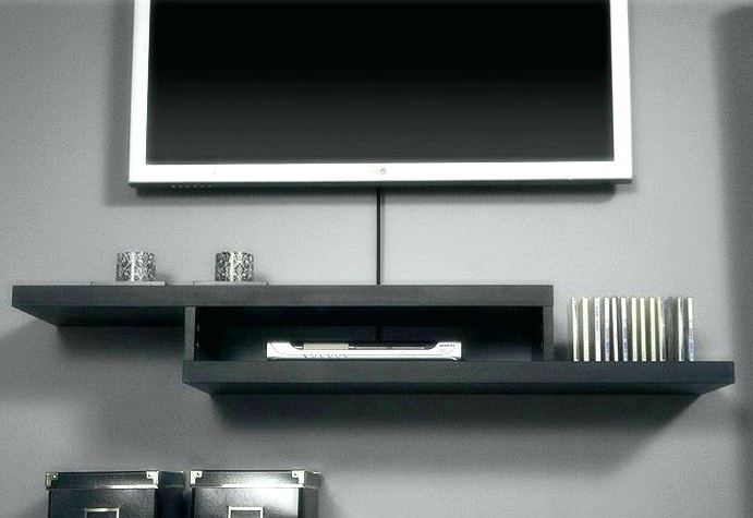 Most Up To Date Wall Mounted Tv Stands With Shelves With Shelf Under Mounted Tv Shelf Under Wall Mounted Shelf Mounted Tv (View 6 of 20)