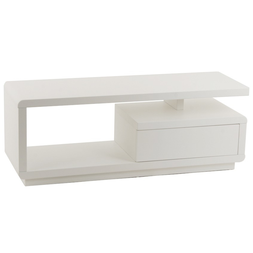 Most Up To Date White Modern Tv Stands Within Small White Tv Stand For Condo Spaces (View 12 of 20)