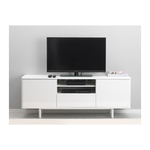Mostorp Tv Bench High Gloss White 160 X 47 X 60 Cm – Ikea Intended For Famous High Gloss Tv Benches (View 14 of 20)
