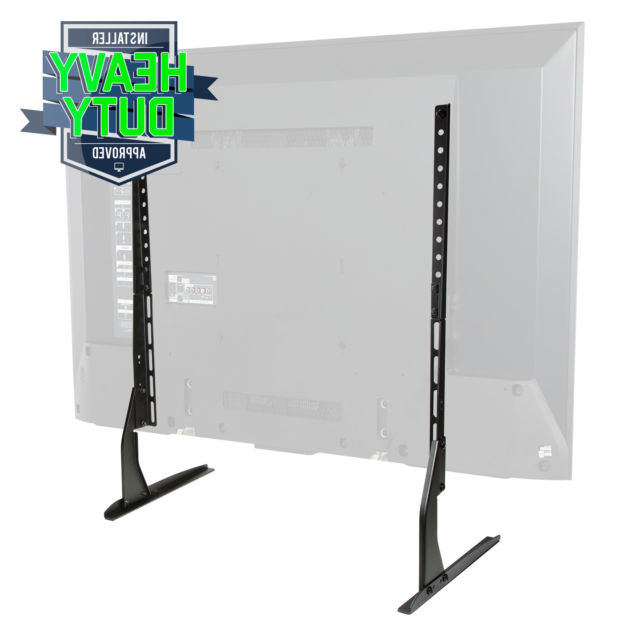 Mount Factory Modern Tabletop Tv Stand – Universal Flat Screen Base Intended For Latest Universal 24 Inch Tv Stands (View 9 of 20)